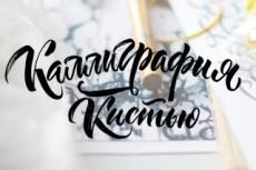 Создам логотип в стиле леттеринг 13 - kwork.ru