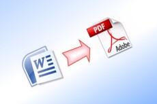 Переведу Ваши файлы PDF в формат Word 11 - kwork.ru