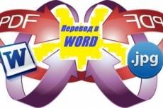Переведу текст из pdf и других форматов в word 6 - kwork.ru