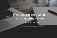 Художественное, литературное редактирование текста 5 - kwork.ru
