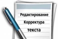 Редактура и корректирование текстов 13 - kwork.ru